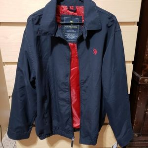 US Polo Assn | Blue & Red Jacket with Logo XL New
